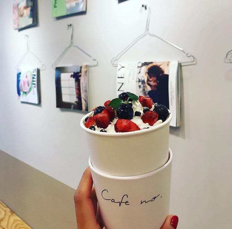 cafe no. blueberry chocolate latte