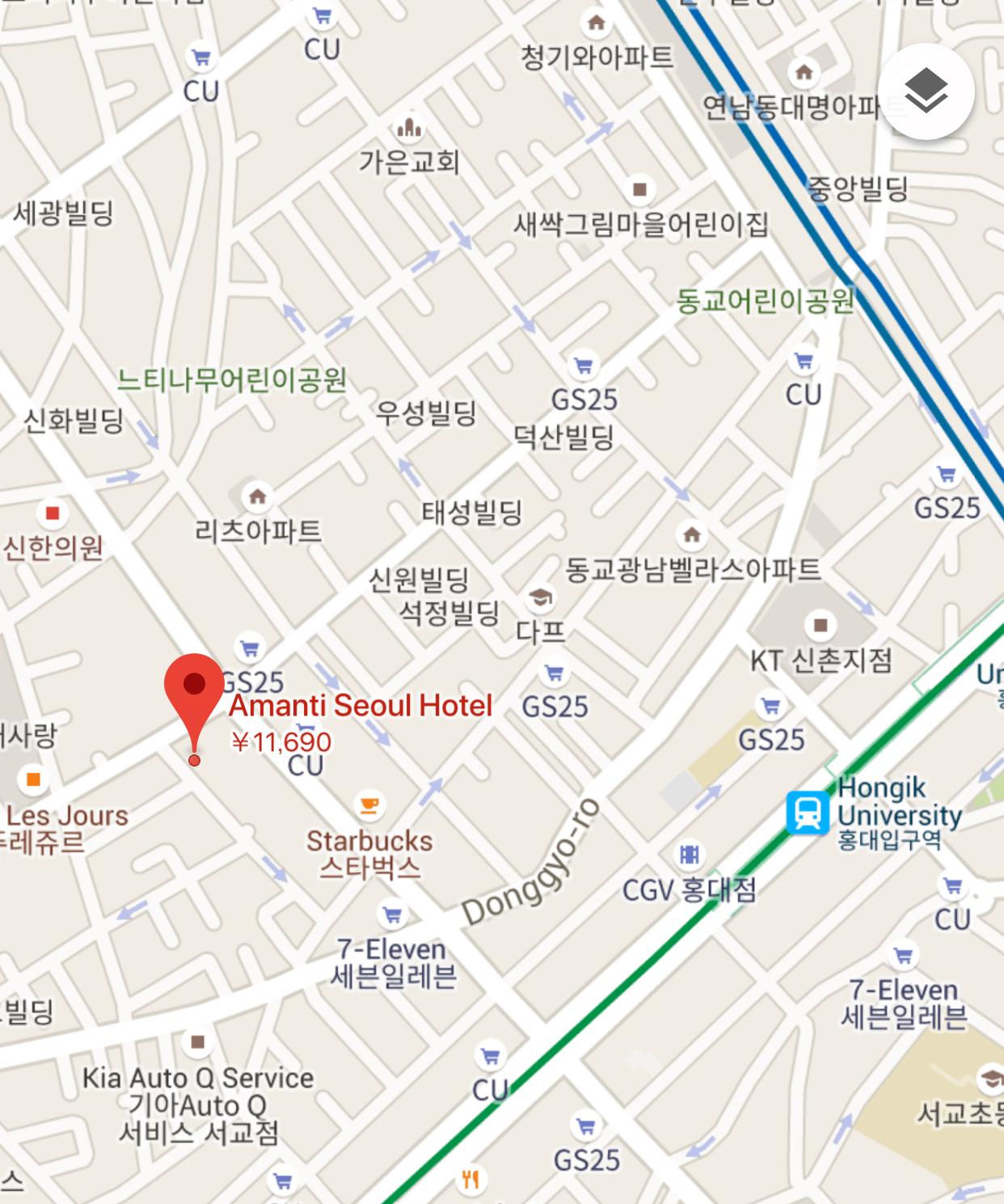 地図アマンティホテル