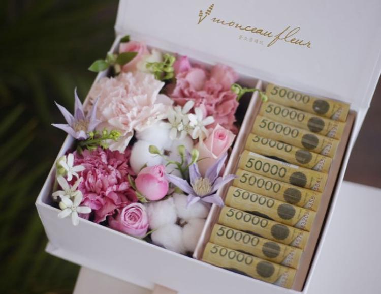 お金入り お花の詰め合わせBOX