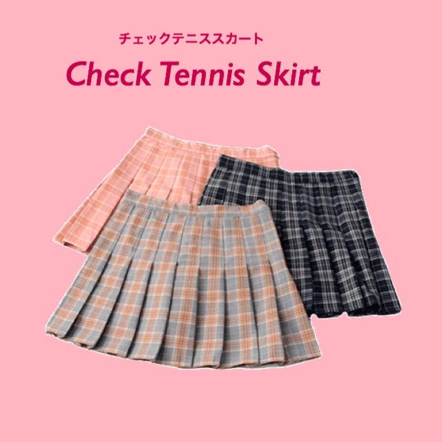 チェックテニススカート