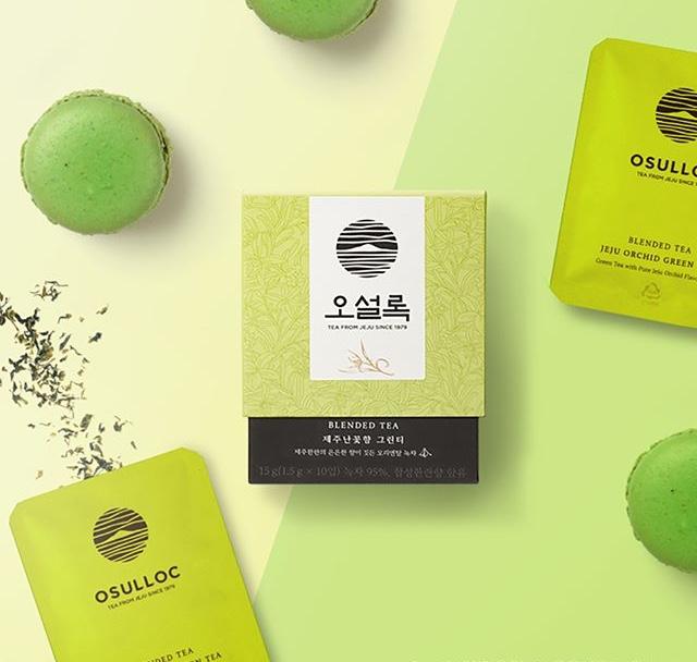 緑茶×マカロン