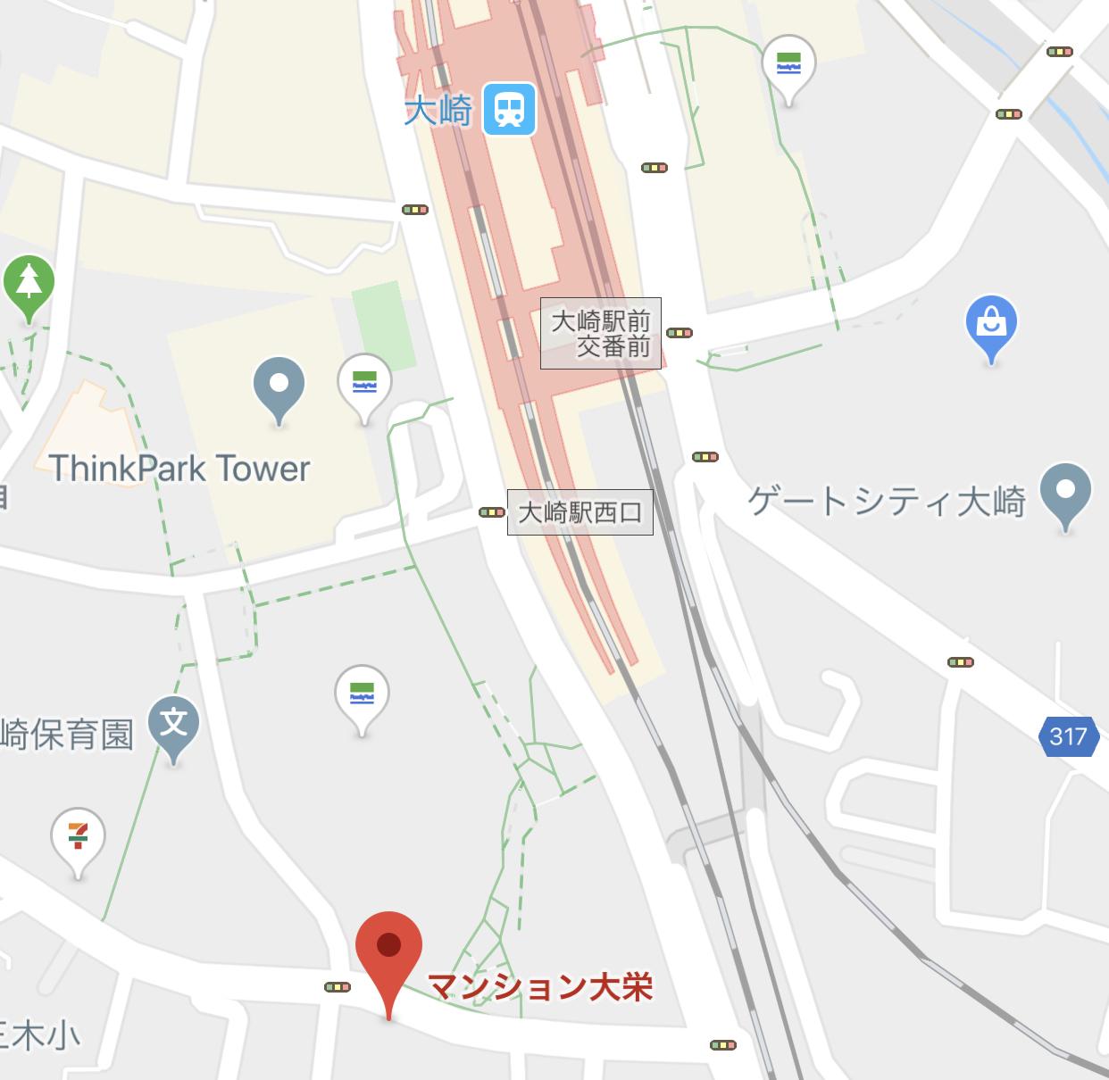 POP-UP CAFEの開催場所の地図