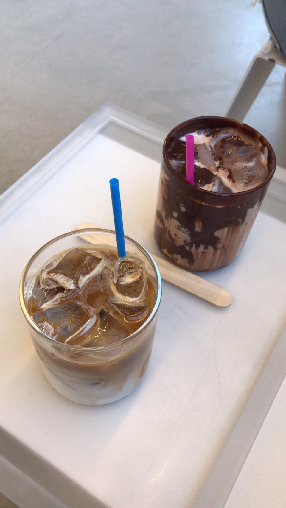 ココアとカフェラテ