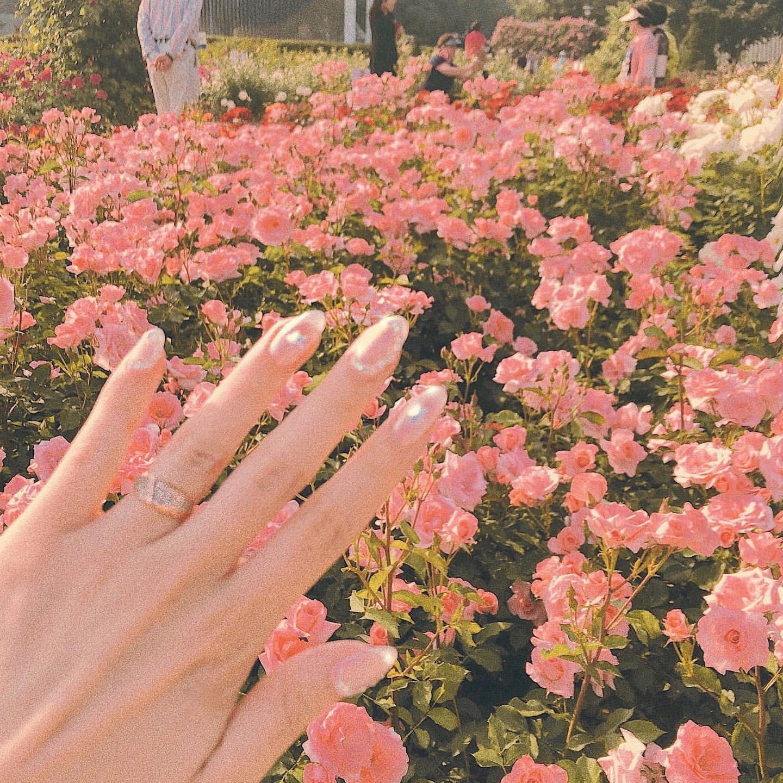 春 ピンクネイル