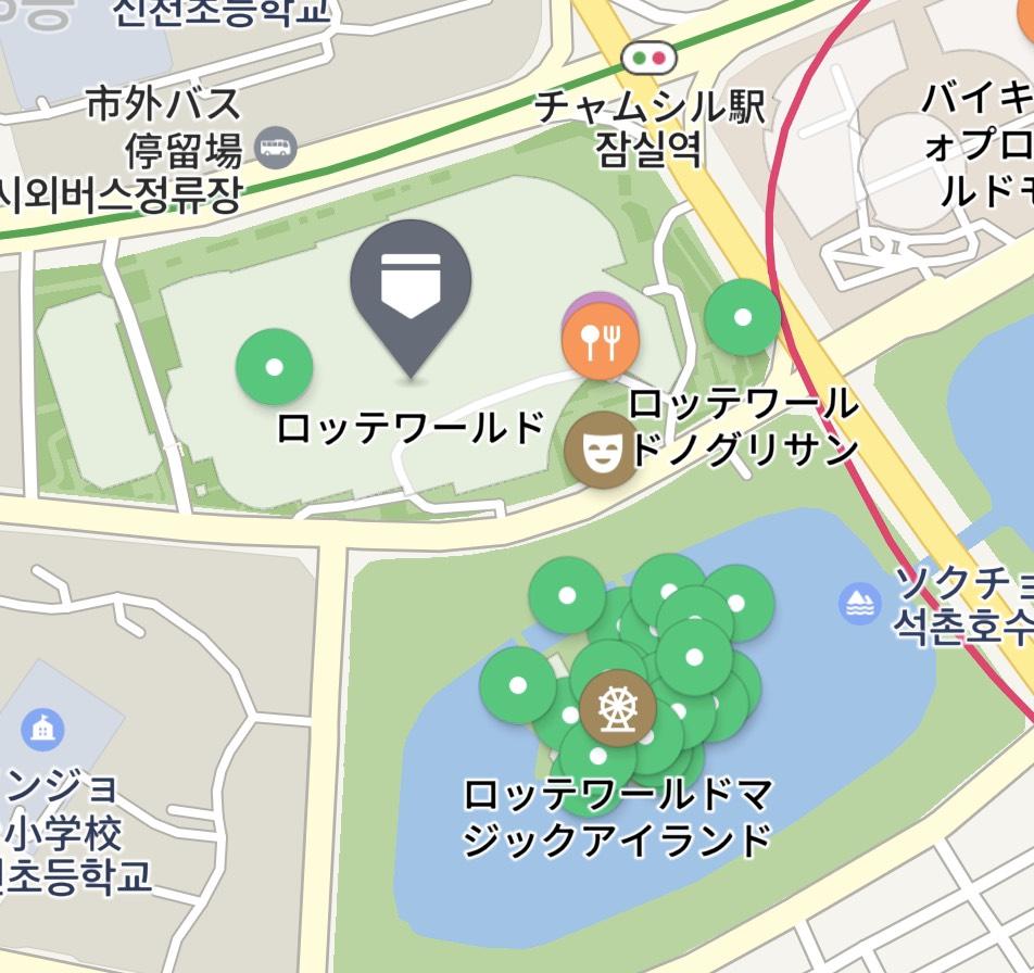 ロッテワールドの地図