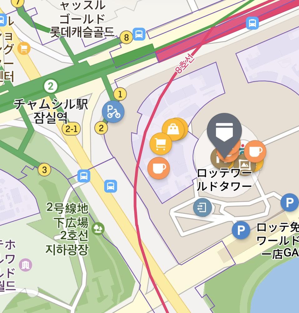 ロッテワールドタワーの地図