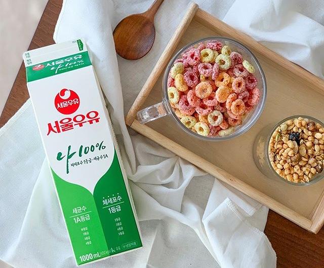 牛乳×シリアル