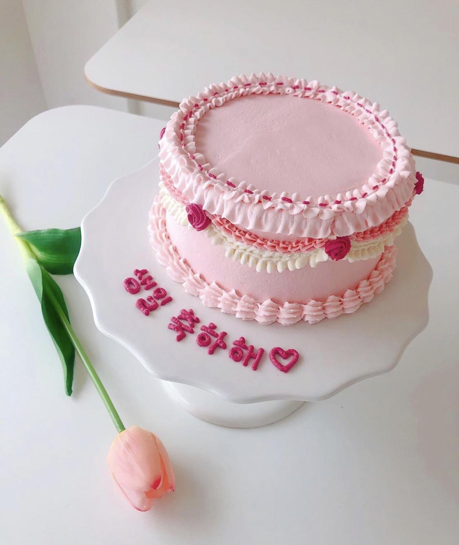 ハングル文字ケーキ