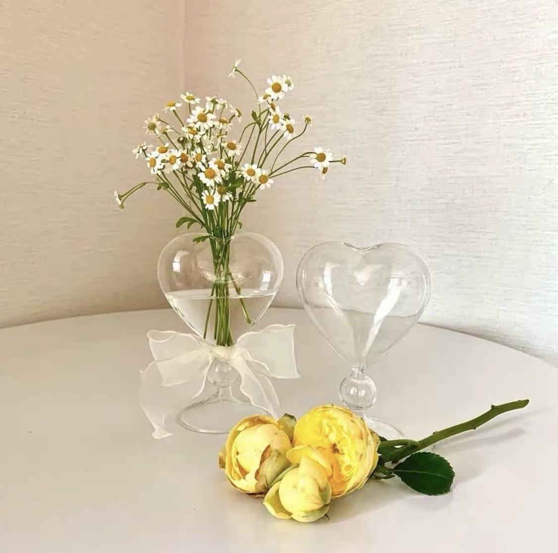 ハート 花瓶