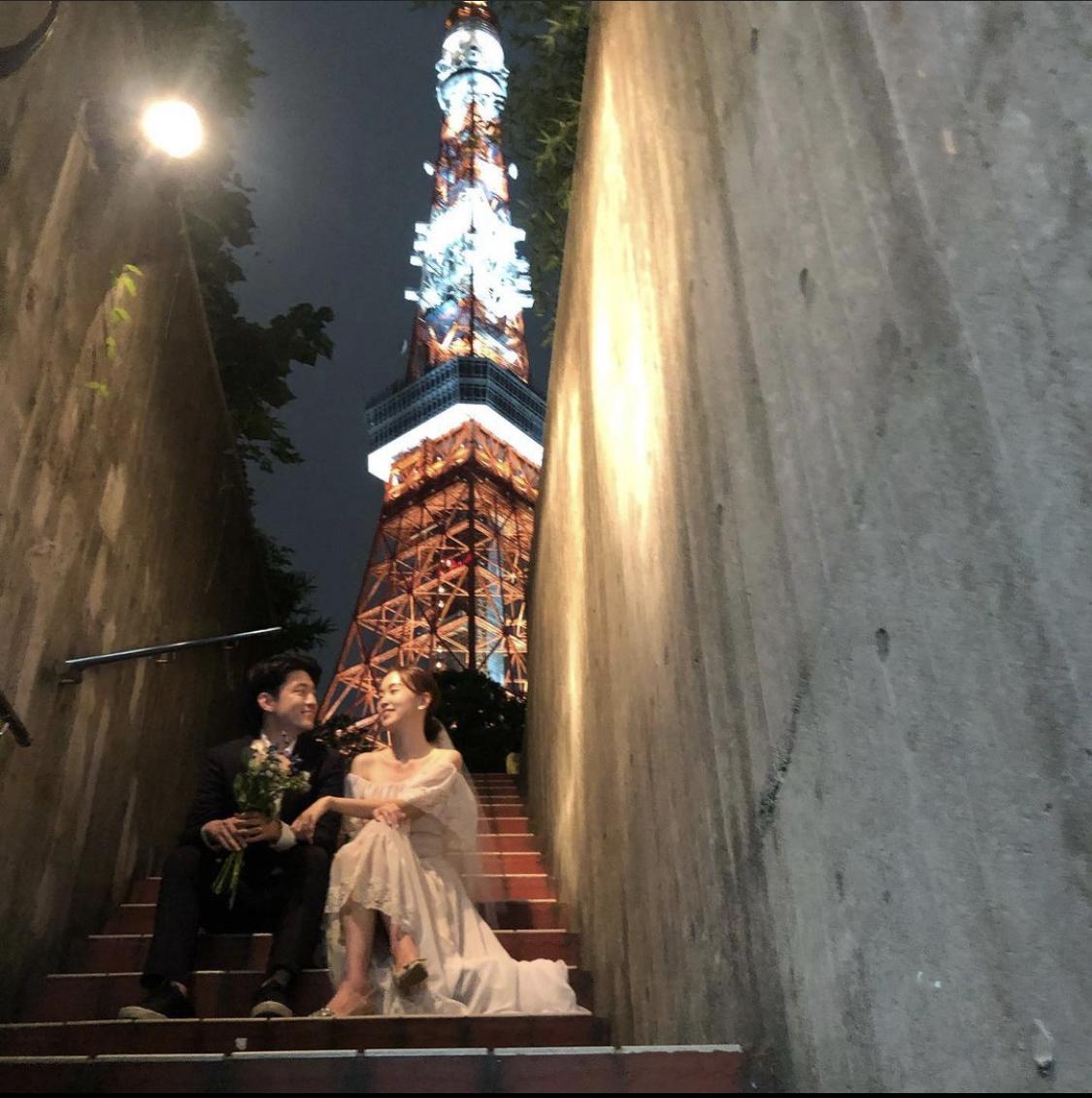 結婚式前撮り_韓国人夫婦