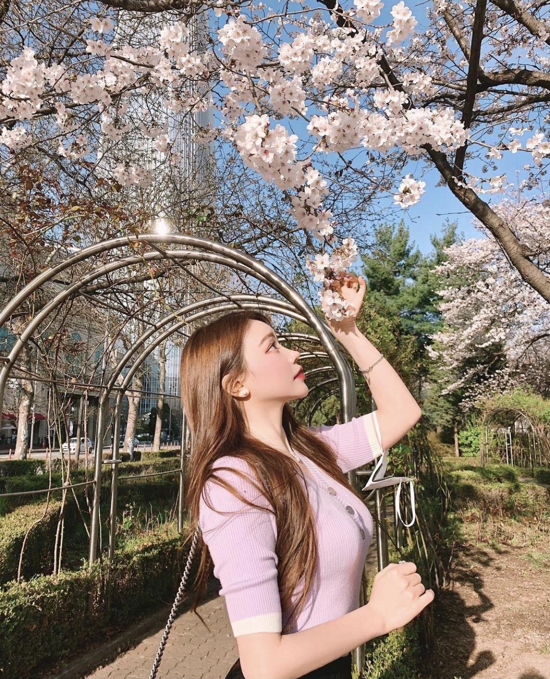 桜ショット 横顔