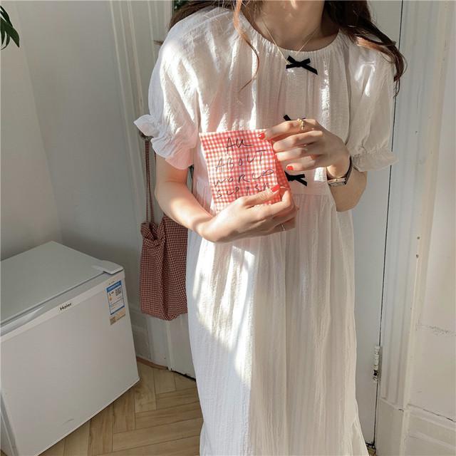 リボン付きワンピースパジャマ②